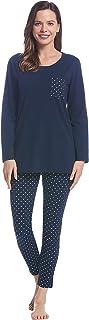 Joyaria 2 Piece Pajamas for Women Long Sleeve Top with Legging Pjs Set