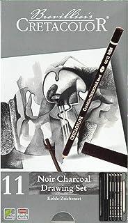 CRETACOLOR Noir Charcoal Drawing Set, 11 Pieces, multicolor