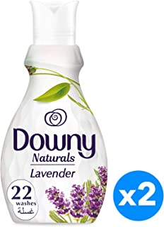 Downy Naturals Concentrate Fabric Softener Lavender Scent, 880ML, Piece of 2