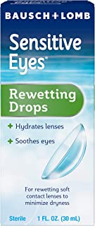 Contact Lens Solution by Bausch & Lomb, for Rewetting Soft Contact Lenses, 1 Fl Oz
