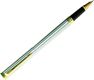 DRYDEN Fine Nib Fountain Pen - SILVER - Luxury Fountain Pens Collection - Consistent Ink Flow - Free Ink Converter Included