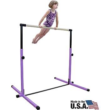 Nimble Sports Purple Junior Adjustable Horizontal Bar - Kids Kip Bar