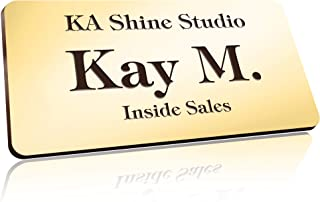 """Personalized Name Tags with Pin, 1.5"""" x 3"""", Pin, Magnetic or Adhesive Backing, Choice of 18 Colors, Laser Engraved, Classi..."""