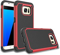 Galaxy S7 Edge Case, Bestselling Shop Shock Absorbing Hybrid Rubber Plastic Impact Defender Rugged Slim Hard Case Cover Shell for Samsung Galaxy S7 Edge S VII G935 GS7edge (Red/Black)