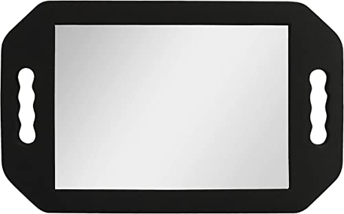 Kurtzy Miroir Coiffeur Portable Léger – Miroir Barbier en Mousse Noir - Ideal pour Salons et Esthéticiennes – Miroir ...