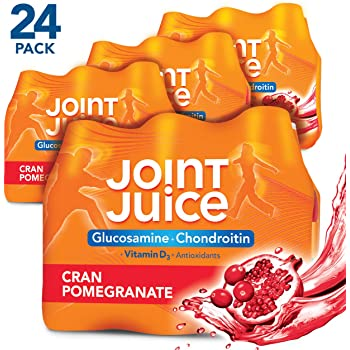 Joint Juice Glucosamine and Chondroitin Supplement, Cranberry Pomegranate, 8 fl oz Bottle, (24 Count)
