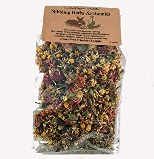 3 ounce packaged- Certified Organic Nibbling Herbal Mixture for Bunny Rabbits that is healthy and they love!