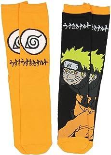 Naruto & Leaf Village Symbol Crew Socks - 2 Pack