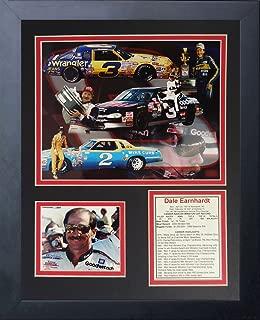Legends Never Die Dale Earnhardt Sr NASCAR Collectible | Framed Photo Collage Wall Art Decor - 12