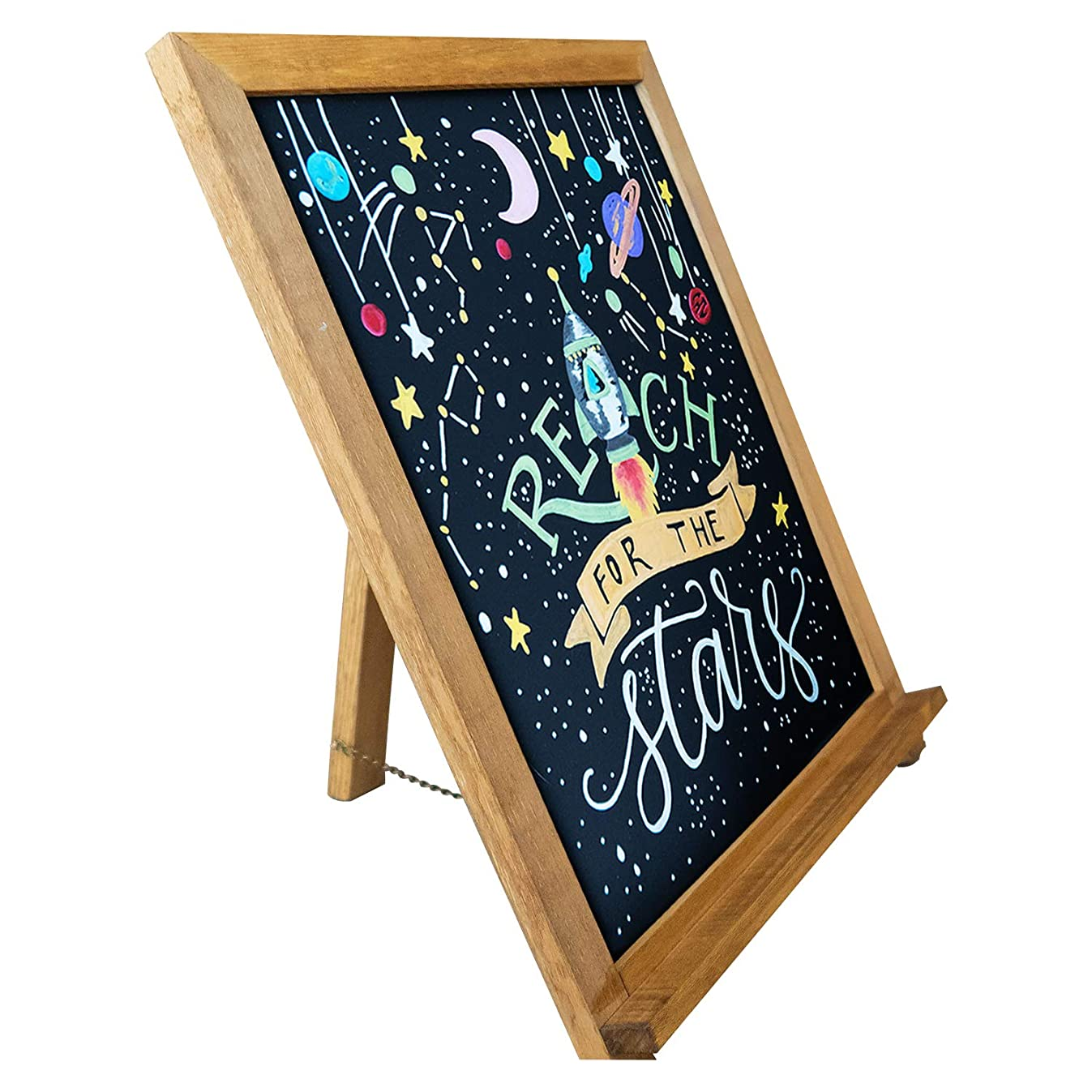Rustic Chalkboard Sign | Smooth Wooden Frame with Non-Porous Magnetic Surface for Home Decor, Kitchen, Wedding, Restaurants & Bar Table Top (15