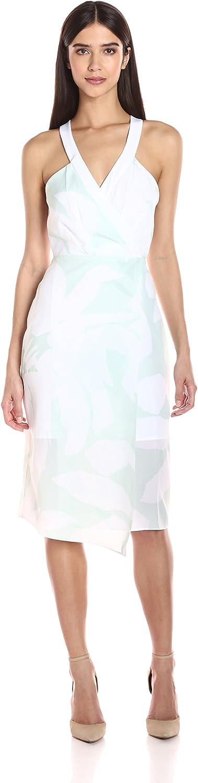 BCBGeneration Womens Surplice Floral Dress Dress