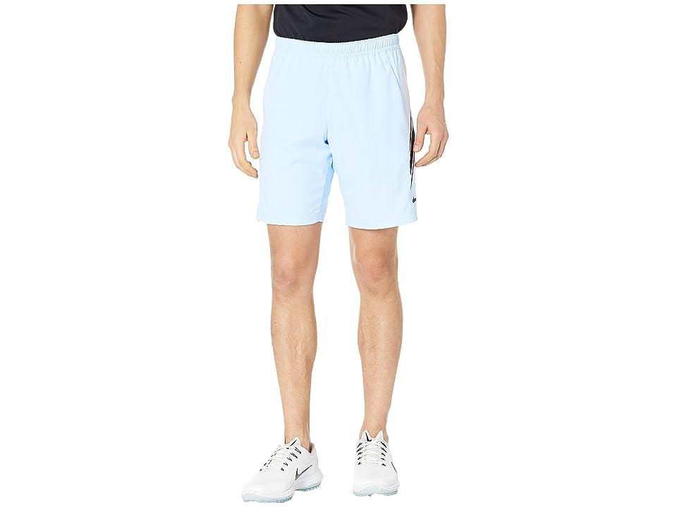Nike NikeCourt Dry Shorts 9 (Half Blue/Oil Grey/Oil Grey) Men