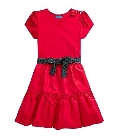 Polo Ralph Lauren Kids Tiered Stretch Interlock Dress (Big Kids)