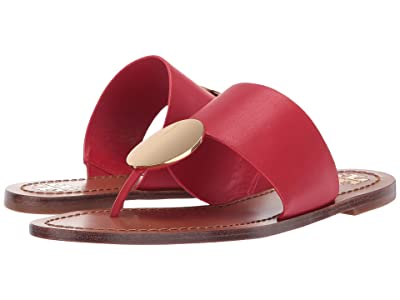 Tory Burch Patos Disk Sandal (Brilliant Red/Gold) Women