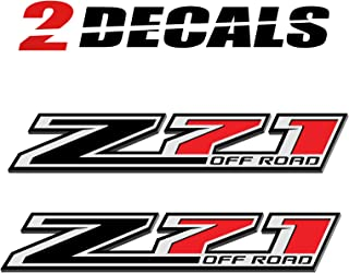 TiresFX Chevy Silverado Z71 Offroad Z-Black Truck Stickers Decals - Bedside (Set of 2)