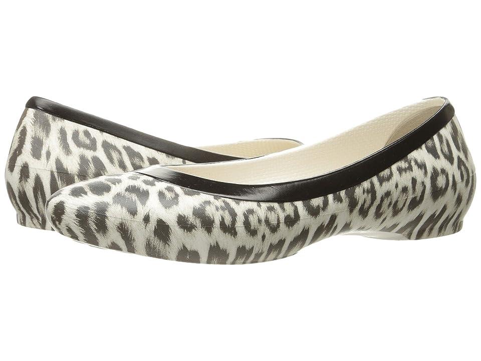 Crocs Lina Graphic Flat (Leopard/Oyster) Women