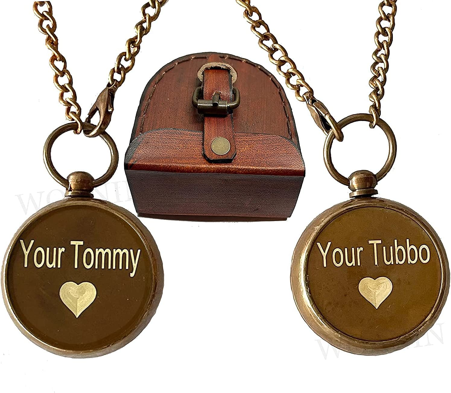 WOANIN Your Tommy overseas Tubbo Locket Necklace Many popular brands Set Pendent Compass