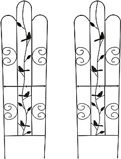 1. GO Metal Garden Trellis Panel Arch for Climbing Plants, 2 Set, 16