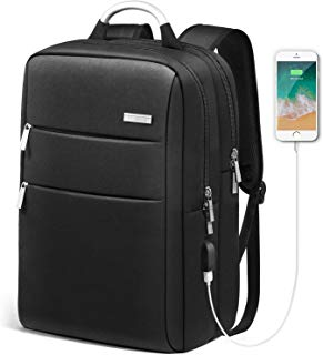HOMIEE Laptop Backpack Unisex Waterproof Travel Bag Anti-Theft Laptop Briefcase with USB Charging Business Laptop Backpack, Water Resistant Backpack for College