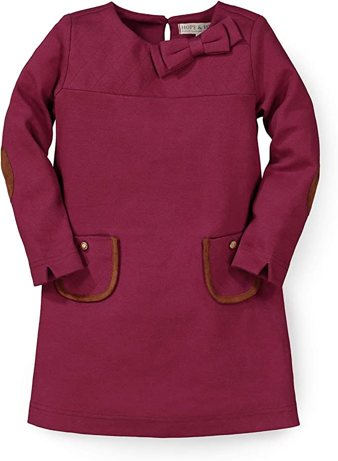 60s 70s Kids Costumes & Clothing Girls & Boys Hope & Henry Girls Long Sleeve Quilted Ponte Riding Dress  AT vintagedancer.com