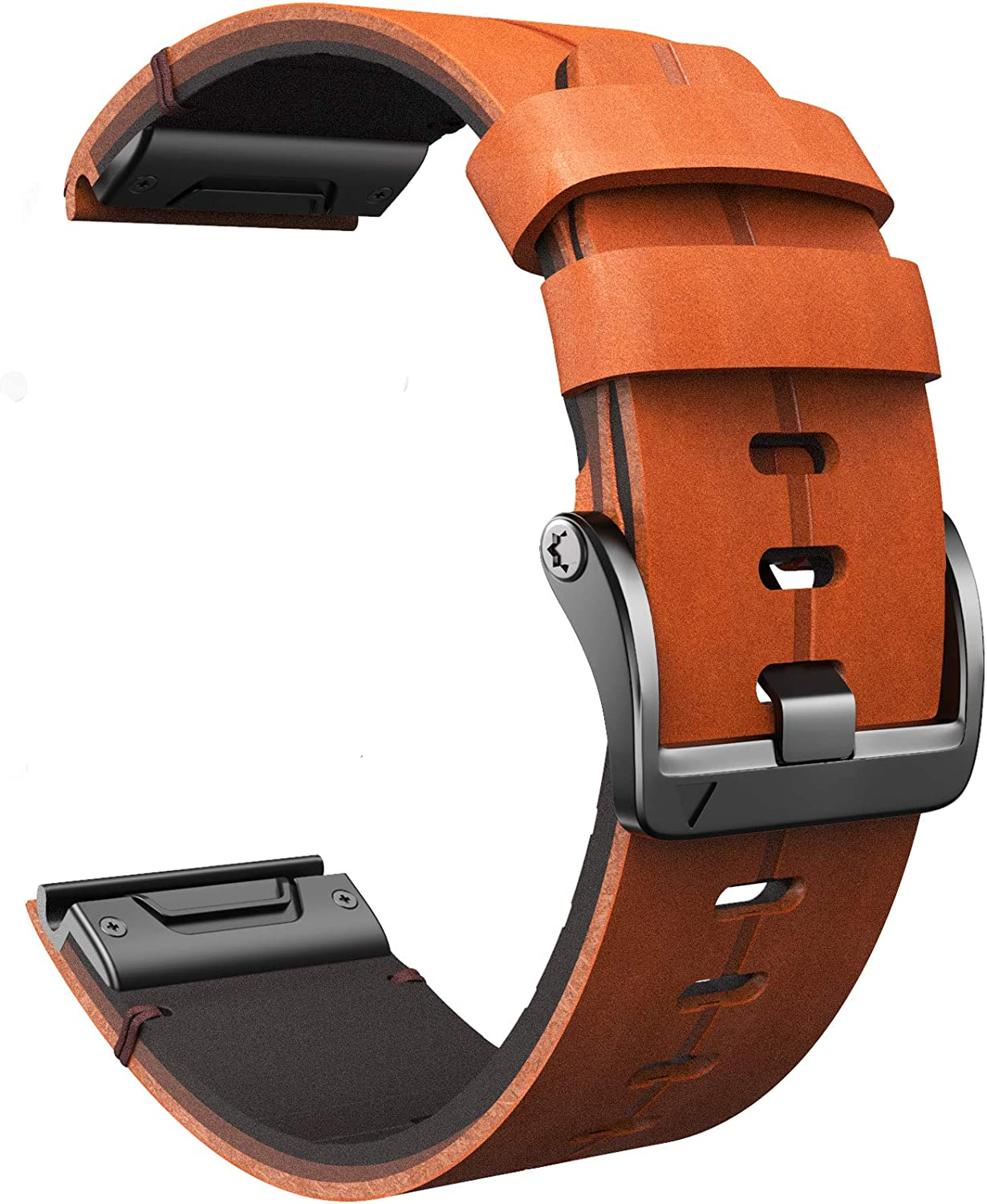 ANCOOL Compatible with Fenix 5X Band 26mm Easy-fit Genuine Leath