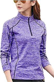 [パリド] 吸汗 速乾 スポーツ シャツ フィットネス トレーニング ウェア 長袖 ハイネック レディース M~4XL