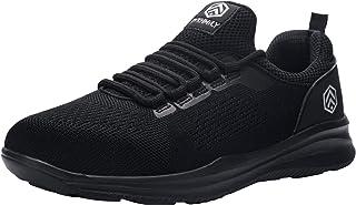 DYKHMILY Chaussure de Securite Hommes Antistatique S3 SRC Antidérapant Baskets de Sécurité Legere Respirant Embout Acier C...
