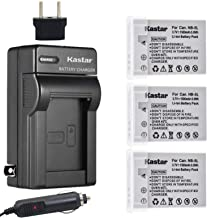 Kastar NB-5L Battery (3-Pack) and Charger Kit for Canon CB-2LXE PowerShot S100 S110 SD700 SD790 SD800 SD850 SD870 SD880 SD890 SD900 SD950 SD970 SD990 SX200 is SX210 is SX220 is SX230HS
