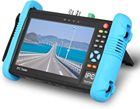 SGEF 7 inch IP Camera Tester Security CCTV Tester Monitor HD 8MP /AHD/TVI/CVI/POE/4K H.265/HDMI in&Out/TDR/PTZ Control/IP Discovery/Rapid ONVIF/WIFI/8G TF Card/DC 12V 2A Output 9800-ADHplus
