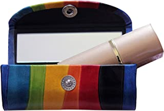 The StoreKing Rakhi Gifts Leather Lipstick Case Holder - Organizer Bag for Purse- Lipstick Holder- Durable Soft Leather -Cosmetic Storage Kit with Mirror (MultiColor2)