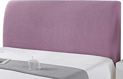 Corduroy Stretch Bed Headboard Slipcover for Full Twin Queen King Head Purple