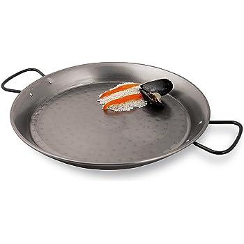 IMUSA USA CAR-52022 Paella Pan with Metal Handle Black 15-Inch