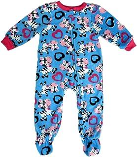 Imagine Girls Infant Zebra Blue Fleece Blanket Sleeper Footed Pajamas 12adff579