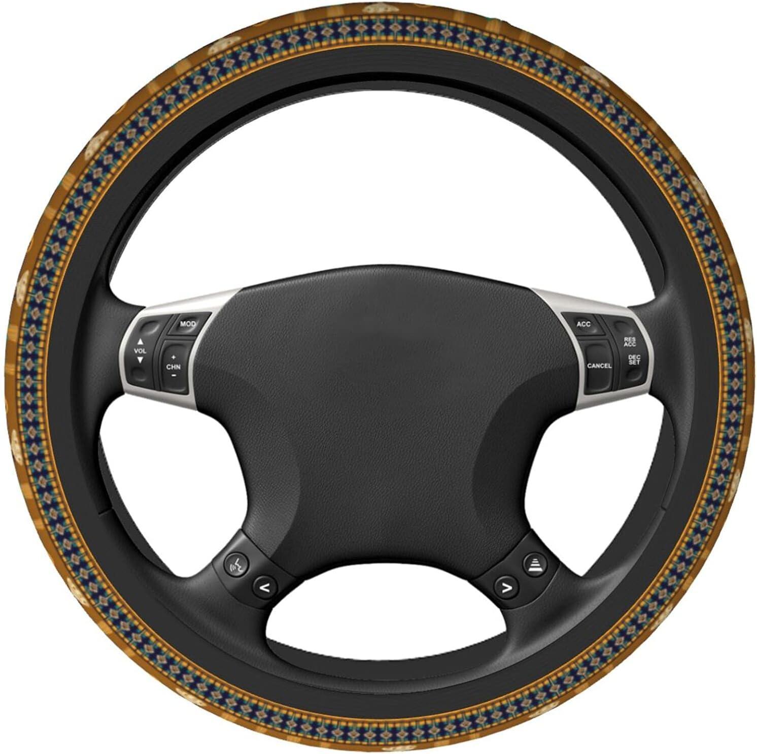 Abstract Elephant Tree Folk Elastic Steering 2021 model Univers Wheel Department store Cover