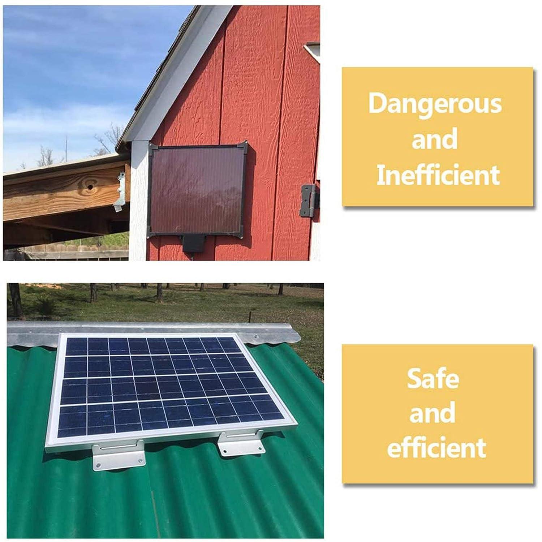 pared caravanas yates y otras instalaciones fuera de la cinta Negro juego de 4 unidades Soporte de montaje de panel solar de aluminio con soporte de panel solar Z para RV barco color plateado