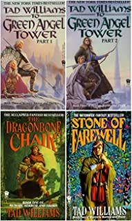 4 Book Set of Tad Williams' Memory, Sorrow and Thorn Trilogy Series (Set Includes: The Dragonbone Chair, The Stone of Farewell, To Green Angel Tower pt. 1, To Green Angel Tower pt. 2)