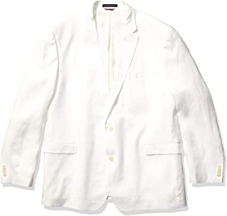 Men's Modern Fit White Linen Suit Separate (Blazer and Pant)