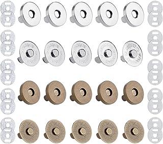 Anpro 10PCS 18mm DIY Fermoirs Pressions Magnétiques Aimantent Circulaire Rétros pour Sac en Tissu, Vêtements,Portefeuille ...