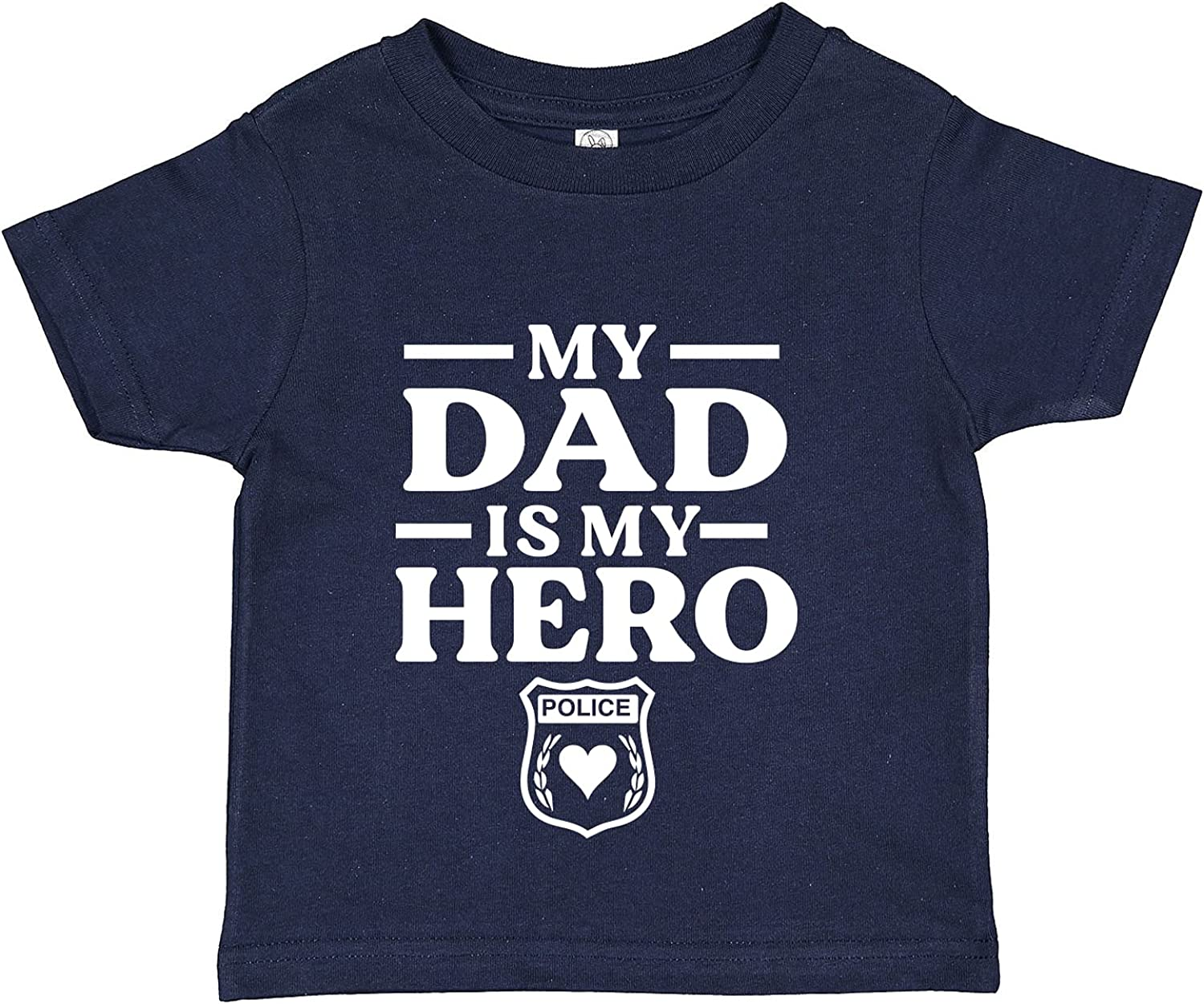 Tees & Tails My Dad is My Police Hero Baby Tee Shirt (Assorted Colors)