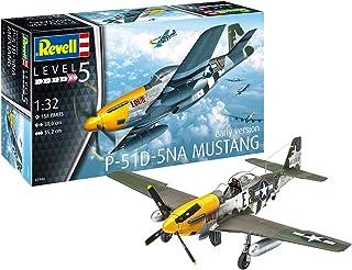 Revell 03944 03944-modellbyggsats flygplan 1:32-P-51D Mustang i skala 1:32, nivå 5, originaltrogen kopia med många detaljer