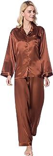 Lavenderi Women's Long Sleeves Premium Satin Pajama Sets