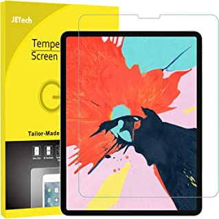 JETech Screen Protector for iPad Pro 12.9-Inch (3rd Generation 2018 Model, Edge to Edge Liquid Retina Display), Face ID Compatible, Tempered Glass Film