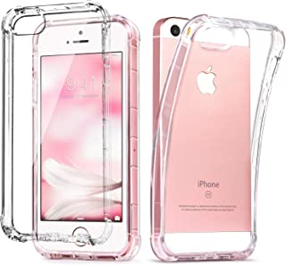 IDweel iPhone SE Case Clear, iPhone 5s case, iPhone 5 case, Clear Slim Fit 5/5S/SE Case with Transparent See Through Flexible Anti-Scratch Soft TPU Bumper Shock-Absorption Cover
