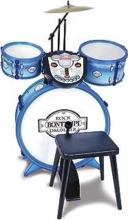 Bontempi- BATERIA ELECTRIA Drum 4 Niveles DE Aprendizaje 7 RITMOS 14 MELODIAS 41X80X19 CM, Multicolor (525602)