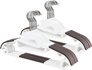 【Amazon限定ブランド】ハンガー すべらない ハンガー 洗濯 衣類ハンガー ズボン 物干しハンガー 収納 hanger (ホワイト 20本組) VADUUU