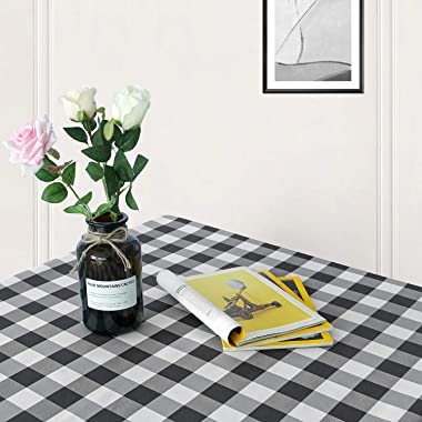 Hiasan 60 x 120 Inch Checkered Tablecloth Rectangle - Stain Resistant, Spillproof and Washable Gingham Table Cloth for Outdoo
