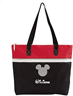 Personalized Mouse Head Tote Shoulder Bag Red and Black for Cruise or Amusement Park or Gift
