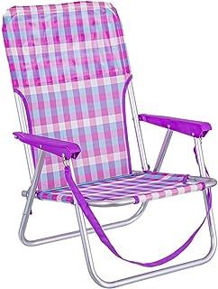 LOLAhome Silla de Playa Fija de Aluminio y Textileno (Rosa y Violeta)