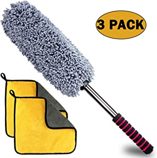 Anumit Microfiber Duster, Ultra Soft Car Duster with Long Extendable Handle, 2 Lint..