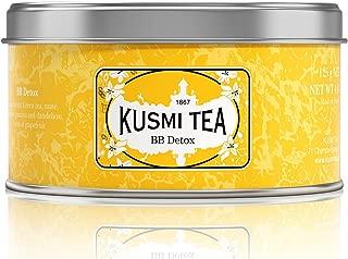 Kusmi Tea - BB Detox - Natural Green Tea with Yerba Mate, Rooibos, Guarana, Dandelion Infusion with a Hint of Grapefruit - 4.4oz of All Natural Premium Loose Leaf Green Tea in Metal Tin (50 Servings)